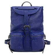【LONGCHAMP】3D系列雙口袋皮革後背包(藍寶石)
