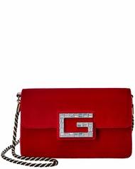 Gucci Square G Velvet Shoulder Bag