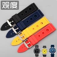 เหมาะสำหรับ Breitling สายนาฬิกา Breitling อเวนเจอร์ส Super ทะเลวัฒนธรรม Blackbird ชายสายซิลิโคนสายนาฬิกา