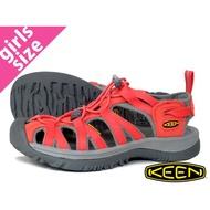 CodEX= KEEN WHISPER 編織彈性綁繩護趾防水包頭涼鞋(橘灰) 1012231 拖鞋 SANDALS 女