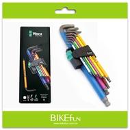 德國Wera Hex-Plus六角板手9件組-彩色版,專利防滑牙設計>拜訪單車(snap-on parktool)
