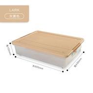 床底儲物箱 茶花床底收納箱塑膠儲物箱透明收納盒子有蓋大號整理箱衣服被子『SS202』