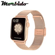 Morbido蒙彼多 Apple Watch 42mm不鏽鋼編織卡扣式錶帶