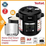 Tefal Pressure Cooker Home Chef Smart 6.0L Fast Cook 1000W - CY601D