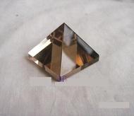 水晶擺件 茶水晶金字塔 智力金字塔 金字塔