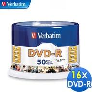 【Verbatim 威寶】16X DVD-R光碟片 50片布丁桶