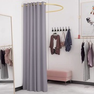 Fitting RoomU-Shaped Rod Clothing Store Dressing Room Door Curtain Trial Changing Curtain Clothing Store Fitting Rod Simple Partition Cloth Curtain