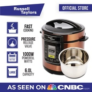 Russell Taylors Pressure Cooker Stainless Steel Pot PC-60 Rice Cooker (6L) 4B7X