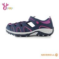 MERRELL兒童涼鞋 女童涼鞋 水陸兩棲 防水涼鞋 速乾網布 運動涼鞋 登山涼鞋 J6485#桃紅◆OSOME奧森鞋業