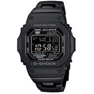 【CASIO】卡西歐G-SHOCK 太陽能電波鬧鈴電子錶-黑 / GW-M5610BC-1 (台灣公司貨)