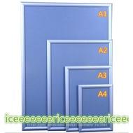 2.5CM邊框 直角 A1 A2 A3 A4 電梯廣告宣傳海報框創意相框海報框畫框鋁合金-海報框-delaa