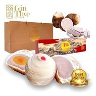 [Gin Thye] Teo Chew Flaky Yam Mooncake - 4pc in Box  [Home Made] 芋泥月饼