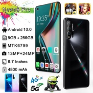 Nowo6 Pro 8GB RAM+256GB ROM 5G Mobile Phone 5G Network Android 10.0 6.7Inch SmartPhone