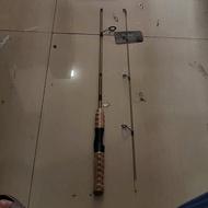 120cm Gold Pioneer Fishing Rod with Wood Foam Handle
