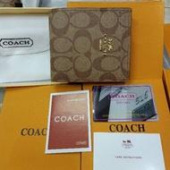 SALE!!! กระเป๋าสตางค์ coach ลาย C signature แคร์การ์ด การ์ด ถุงผ้า กล่อง