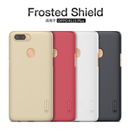R11S Plus case free OPPO R11S plus Protector film Nillkin Frosted Shield Hard cover Anti-Skid Protec