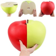Huge Squishy 9.45in 24cm Half Apple Green Red Slow Rising Jumbo Giant Soft Squishies Soft Stress Reliever Toy