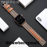 hot สายนาฬิกา สาย AppleWatch series 1/2/3/4/5/6 SE  38/40/42/44mm สาย W55 p90 watch 5 สายหนัง+ผ้า