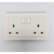 HAGER MUSE 13A double switched socket outlet