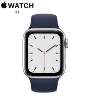 【限時97折】Apple Watch SE GPS+LTE版 40mm 銀色鋁金屬錶殼配藍色運動錶帶 (MYEG2TA/A)