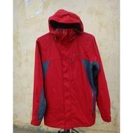 正品 Columbia Omni-Heat 自體熱能科技 暗紅色 機能運動 登山連帽外套 size: S