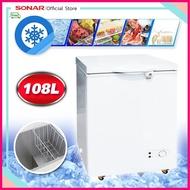 SONAR [Caple House] ตู้แช่ ตู้แช่แข็ง CHEST FREEZER รุ่น BD-108L (สีขาว) เย็นจัด