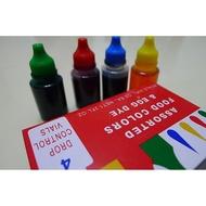 烘焙用~食用色素~四色水~ (綠、紅、黃、藍) 可調各種顏色 (適用翻糖.糖霜.鮮奶油)
