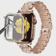 Bling เครื่องประดับสำหรับ Apple นาฬิกา SE สายชุด6 Band 44มม.40มม.ป้องกันหน้าจอสำหรับ IWatch 5 4 Applewatch แถบ