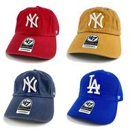 【MLB大LOGO帽】MLB 老帽 47 棒球帽 調整帽 洋基隊 道奇隊 紅色 淺咖啡 深藍 寶藍