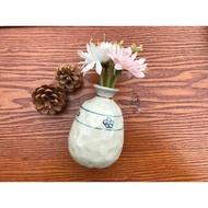 小糖瓷⎥日本製 輕量陶味道手捏花朵清酒瓶/也可以當花器哦