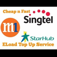 Instant Top up S$5-S$50 #singtel #starhub #M1|| top up to Singapore prepaid