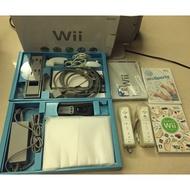 二手!Wii 主機加遊戲兩片 無改機 狀況良好