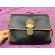 <特價>真品 Dior 蜂巢 老花 包 vintage 老包 古董包 真皮 斜背包 方包