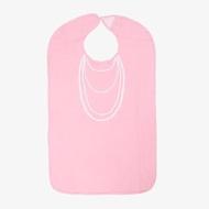 【Frenchie Mini Couture】粉紅珍珠項鍊成人防水圍兜禮盒(銀髮/高齡/老人/樂齡/照護)