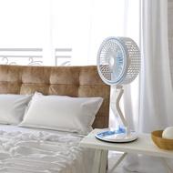 Mini Folding Fan LED Table Lamp USB Desktop Mini Fan for Home Office Dormitory Use