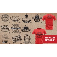 Editable Vector File Template Design for T-shirt Printing - Ai Format