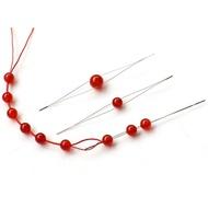 【綺綺愛編織】開口針 串珠針 中間開口針 大眼針 不鏽鋼穿珠針 引針 DIY串珠神器