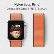 ไนลอนสำหรับ Apple Watch Band 44มม.40มม.Iwatch 42มม.38มม.Smartwatch สร้อยข้อมือ Correa Apple Watch Series 6 Se 5 4 3 2สาย