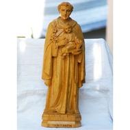 【JesusArt】天主教聖物 檜木木雕 安東尼抱小耶穌像  藝術品 收藏