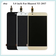 5.0นิ้วสำหรับ Huawei Y3 2017 Cro-U00 Cro-L02 Cro-L22จอแสดงผล Lcd และหน้าจอสัมผัสชิ้นส่วนจอสัมผัสมือถือโทรศัพท์อุปกรณ์เสริม