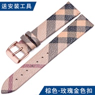 Leather Watch Band Adaptation bubalrr burberry Burberry BU1938 Men And Women 16 | 18 Mm Watch Bracelet
