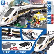 【悠著點積木】兼容樂高城市系列電動高速客運列車火車復興號高鐵60051積木玩具