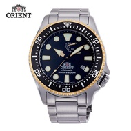 【ORIENT 東方錶】ORIENT 東方錶 WATER RESISTANT系列 200m潛水錶 鋼帶款 黑水鬼 黑色(RA-EL0003B)