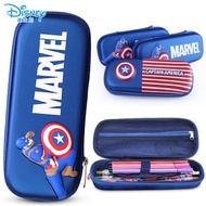 กล่องหมุน▬✤Disney pupil pen bag of children's pencil case boxes large capacity bags captain America 3 d multi-layer wat