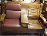 【南台灣傢俱】L型連身透氣皮坐墊椅墊(木製沙發專用)***超低特價$760元