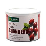 純天然整顆蔓越莓乾(每罐210公克) – O'natural 歐納丘