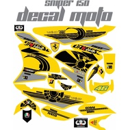 Decals Sticker Motorcycle Decals for Sniper 150 006yellow denise