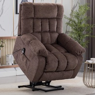 CANMOV Power Lift Recliner Chair with Heat & Massage for Elderly, Heavy Duty Reclining Chair with Contemporary Overstuffed Arms and Back, Taupe