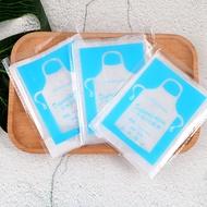熱賣  一次性圍裙塑膠防水透明小龍蝦火鍋廚房成人兒童圍嘴圍兜獨立包裝