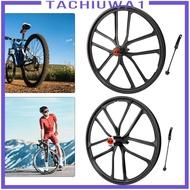 [TACHIUWA1] Ultralight 20\'\' Folding Bike Wheelset High Strength 20inch 1.5~2.125 Disc Brake Mountain Bicycle Front/Rear Wheel 6 Hole Hub Wheels